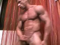 Hot Bodybuilder Jerking It