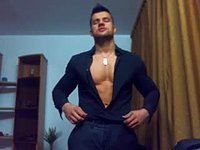 European Model Aydan Shows Off His Body and Urinates