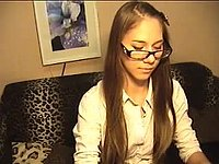 Shy Shoolgirls Strips and Masturbates