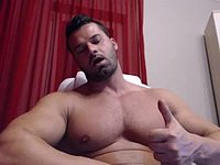 Muscular European Model Plays with His Dick
