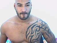 Tattooed Stud Jerking Big Cock
