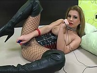 Dildo Through Fishnets