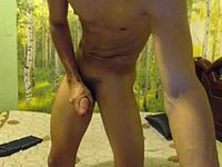 Sexy Valentino Jerking His Cock Until He Cums