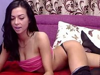 Raven Gal Plays with Balls and Dildos