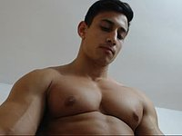 Smooth Bodybuilder Flexes, Jerks and Maybe Cums