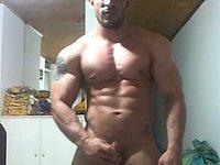 Muscular Model Jerks Off