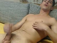 European Model Jerks His Cock