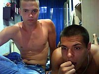 European Damian and Friend Armwrestling Webcam Show