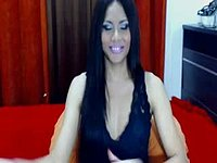 Flora. Beautifull Tranny with Long Black Hair