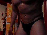 flex muscle,,,,nude body,,,jerk