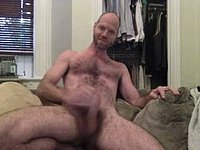 Hairy Hunk Jerks Off and Cums