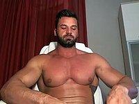 Beard & Big Muscles Jerks Off - Solo