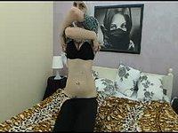 Arabian Alimma Boobs, Beige Dildo, Pussy