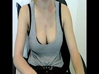 Blond Girl Webcam Showing Boobs