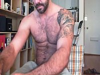 Hairy Muscular Jack Jerks and Talks Dirty
