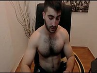 Attractive Masculine Hairy Guy from Soft to Frenzied Orgasm
