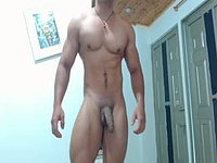 Latino Model Jerks His Cock
