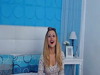 Kinky Blondie with Two Colors Dildo