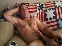 American Model Jerks His Dick
