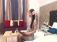 Arianna Smith Stockings and Creamy Webcam Show