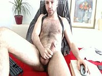 Hairy Model Jerking Off and Cum