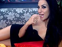 A Webcam Show with the Seductive Marselina