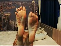 European Model, Benjamin Webcam Shows Off His Feet