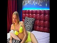Jesse June Blonde, Yellow Lingerie, Non Nude