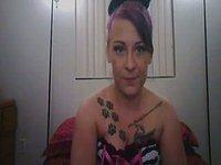 Scarlett Has a Cute Tatto Dildos Her Pussy