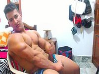 Latino Model Curt Plays with His Dick