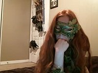 Posion Ivy Costume Finger Sucking