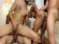 Hades & Diego & Coby & Axel Group Sex Scenes