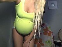 Cute Pregnant Blond Girl Waiting for You