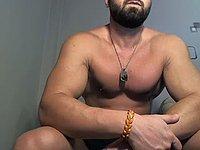 Bearded Bartholomew Jerks Off & Webcam Shows His Butthole