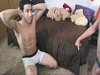 Orlando and Adrian Tease and Blowjob Webcam Show