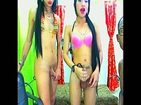 Polet Moon & Brencis Q & Renatha Vega Private Webcam Show - Part 16