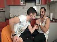 Two Cute Guys in Tickling Session