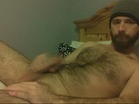 Hairy Bearded Dad Plays with His Manhood Nude