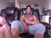 Ebony Model, Derek Plays with His Dick and Webcam Shows Off Feet
