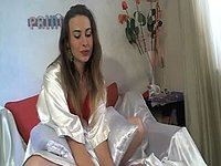Viki Kwiky. Squirting with Panty on