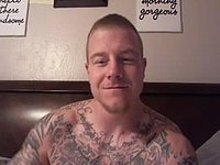 Tattooed American Traten Plays with His Dick