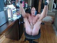 Muscle Guy Talks Dirty, Webcam Shows Hole, Jerks