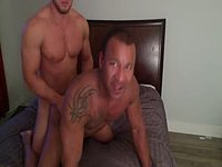 Mixed Gay Couple Fucking on Cam
