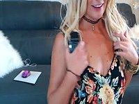 Kay Devon Beige Dildo, Pussy, Blonde