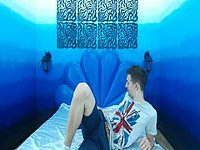 Emilio Plays on His Bed and Webcam Shows His Feet