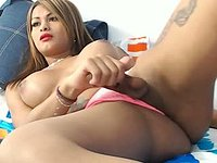 Young Latina Jerks Off