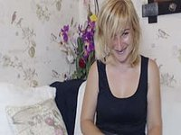 European Blonde Strips and Plays with Pussy