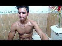 Twink Guy Webcam Showing Ass on Toilet