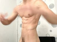 Latino Model Frank Plays with His Dick