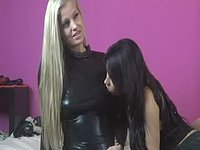 Gorgeous Lesbian Sex in Latex
